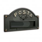 Placca buca lettere ottone verniciato ghisa Silmec mod 10-670.63