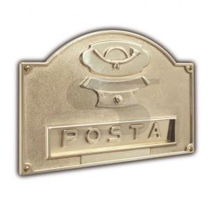 Placca buca lettere con campanello ottone lucidato a specchio Silmec mod 10-671.61