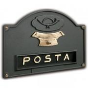 Placca buca lettere con campanello ottone verniciato ghisa Silmec mod 10-671.63