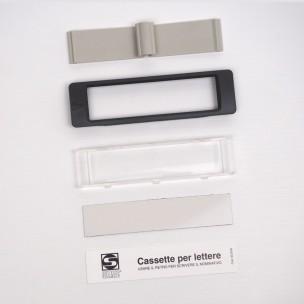mod 90-029 vetrino grigio ricambio per cassette Silmec serie Serenissima