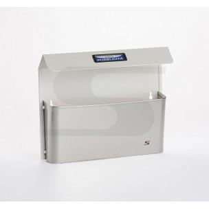 Cesto portapubblicità maxi con tetto Bimetal Silmec bianco mod 41-516.9001