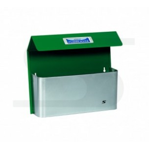 Cesto portapubblicità Silmec con tetto bimetal maxi verde mod 41-516.6005