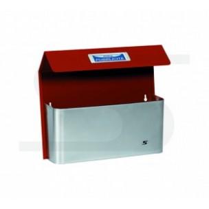 Cesto portapubblicità Maxi Bimetal con tetto Silmec rosso mod 41-516.3011