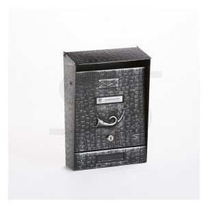 Cassetta Silmec rustica colore nero lavorata a rilievi sfumati argento mod 10-201.09