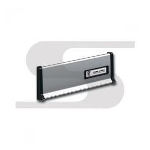 Placca in alluminio silver Silmec mod 10-600.72