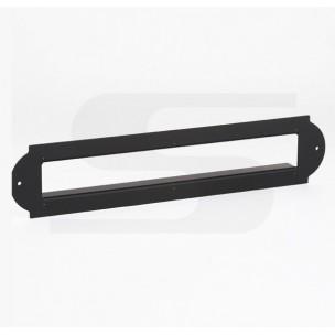 Cornice Silmec coprifuga per placca in alluminio anodizzato nero mod 10-651.56