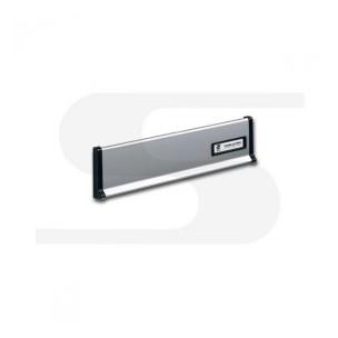 Placca in alluminio silver Silmec mod 10-650.72
