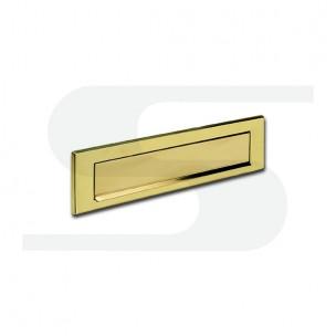 Placca in fusione di ottone lucido verniciato trasparente Silmec mod 10-661.61