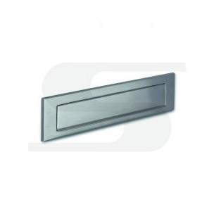 Placca in fusione di ottone cromo-satinato verniciato trasparente Silmec mod 10-661.68