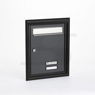 Porta Silmec completa con impostazione, cornice coprifuga e parapioggia mod 10-691.84