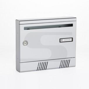 Cassetta Silmec per rivista in alluminio S2001 colore silver mod 10-361.72