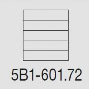 Casellare postale Serie SC6 standard modello 5B1-601.72 silver