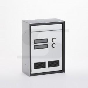Cassetta da incasso Silmec passante con 2 pulsanti di chiamata  mod 20-382.72