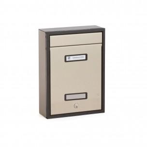 Cassetta Silmec in alluminio SC8 piatta colore bronzo mod. 30-802.73
