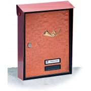 Cassetta Silmec S90 formato rivista rame con tromba ornamento in ottone mod 10-116