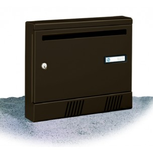 Cassetta postale Silmec per rivista in alluminio S2001 colore testa di moro mod 10-361.75