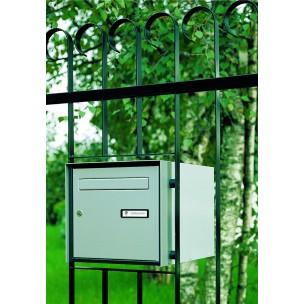 Cassetta Silmec per recinzione passante in alluminio di grande capienza colore silver mod 10-390.72