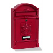 Cassetta Silmec POSTE REGIE da rivista colore rosso ral 3003 goffrato mod. 10-492.65