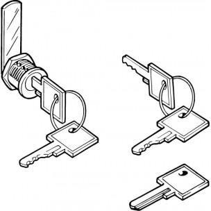 Coppia di chiavi Silmec numerate mod 90-023