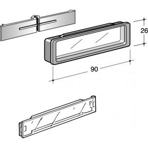 Vetrino trasparente Silmec con cornice mod 90-001