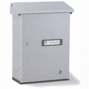 Cassetta postale singola Silmec SERENISSIMA formato rivista in alluminio bianco mod 10-317.78