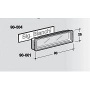"Targhetta Silmec PVC bicolore ""trasparente""  mod 90-004"