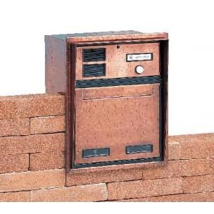 Cassetta Silmec da incasso passante con 1 pulsante di chiamata mod 20-321