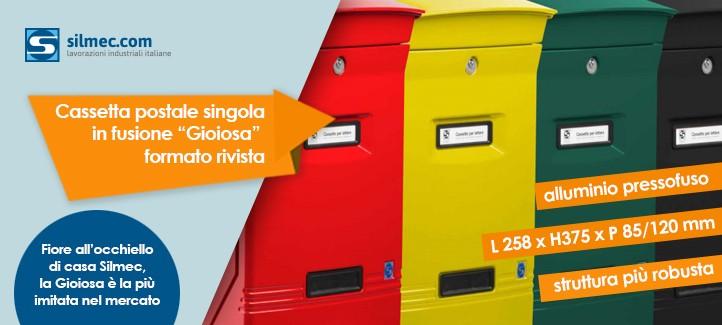 """Cassetta posta singola in fusione """"Gioiosa"""""""